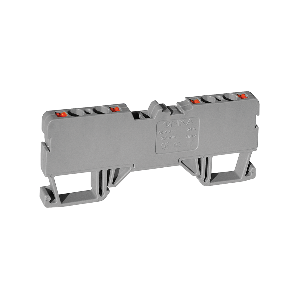 OPK SERIES PUSH-IN TYPE RAIL TERMINAL BLOCKS (2 IN / 2 OUT)