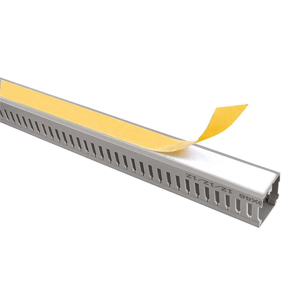 ADHESIVE TYPE SLOTTED CABLE TRUNKING